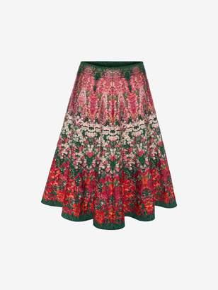 Alexander McQueen Flowerbed jacquard knit Mini Skirt
