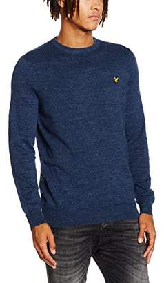 Lyle & Scott Men's Crew Neck Plain Long Sleeve Jumper