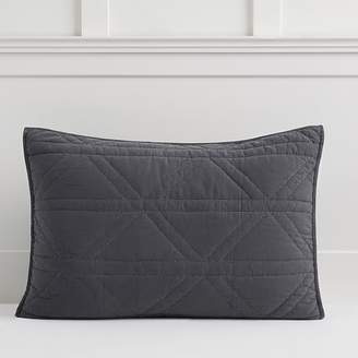 Pottery Barn Teen Diamond Stitch Sham, Standard, Faded Black