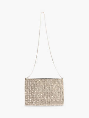 Phase Eight Luna Beaded Bag, Pewter