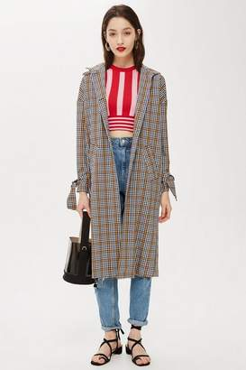 Topshop Check duster coat