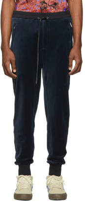 3.1 Phillip Lim Navy Relaxed Cropped Tapered Lounge Pants