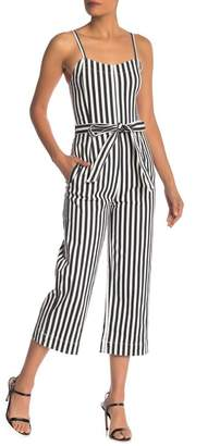 0405bbedc37 Rachel Roy Striped Wide Leg Belted Jumpsuit