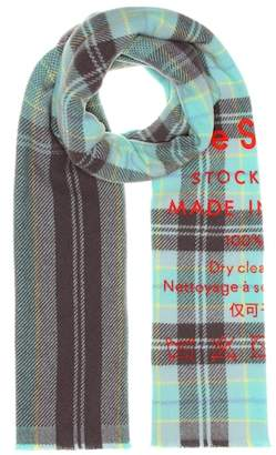 Acne Studios Cassiar checked wool scarf