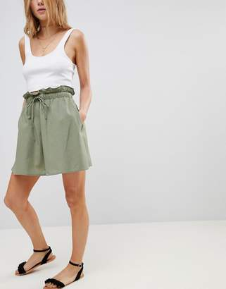 Asos Design Cotton Mini Skater Skirt with Pockets