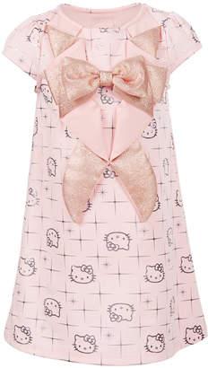 Hello Kitty Toddler Girls Tuxedo-Style Printed Dress