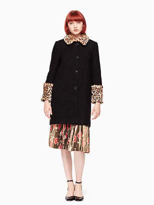 Kate Spade Jewel button boucle coat