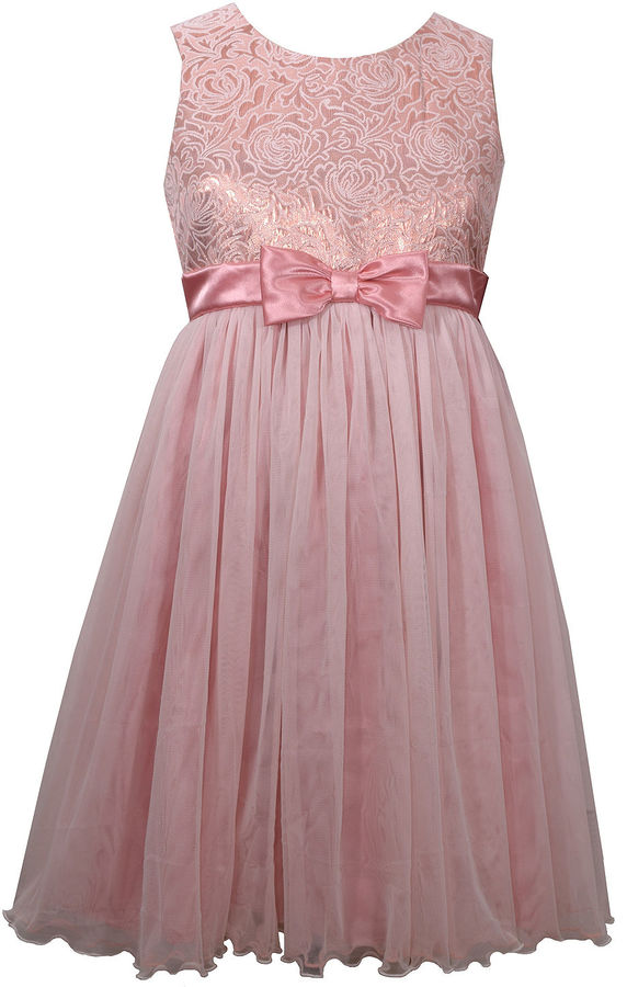 Bonnie JeanBonnie Jean Sleeveless Empire Waist Dress - Big Kid