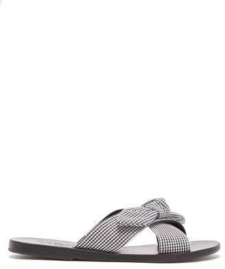 Ancient Greek Sandals Thais gingham cross-strap leather sandals