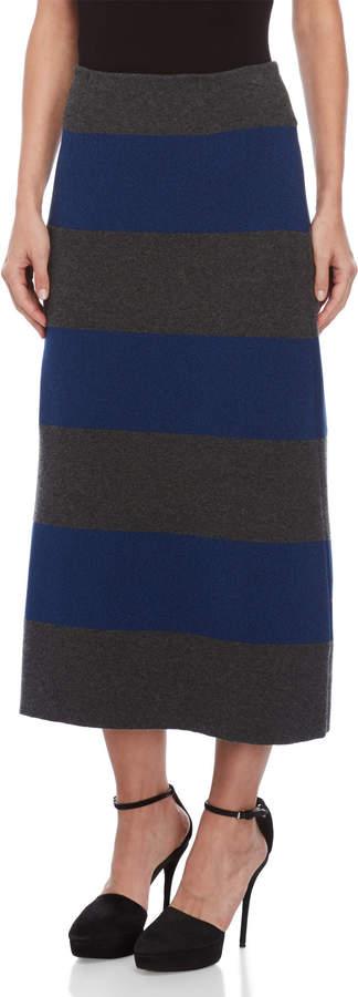 Sonia Rykiel Wide Stripe Maxi Skirt
