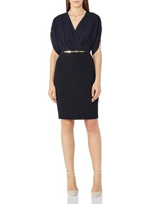 REISS Lyon Faux-Wrap Dress $340 thestylecure.com