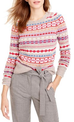 Women's J.crew Holly Fair Isle Sweater $79.50 thestylecure.com