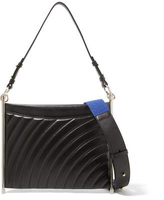 Chloé Roy Quilted Leather Shoulder Bag - Black