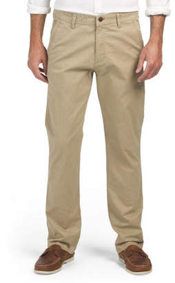 Flat Front Chinos With Security Zip Pocket