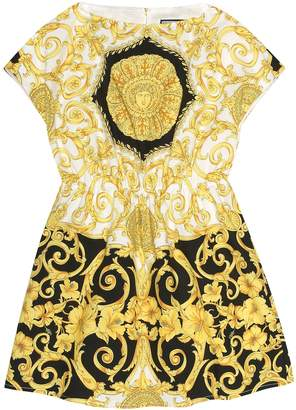 Versace Kids Printed cotton dress
