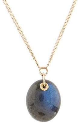 Jamie Joseph 14K Labradorite & Aquamarine Pendant Necklace