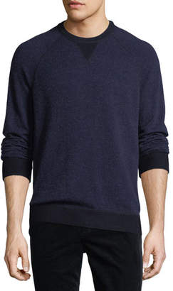 Vince Cashmere-Blend Birdseye-Knit Sweater