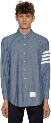 Thom Browne Printed Straight Chambray Cotton Shirt
