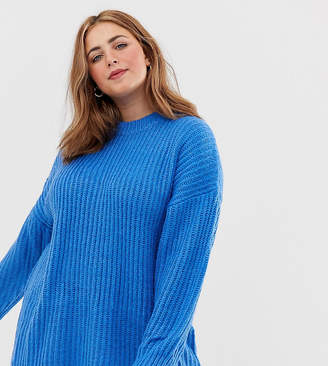 Asos DESIGN Curve chunky jumper in rib with crew neck