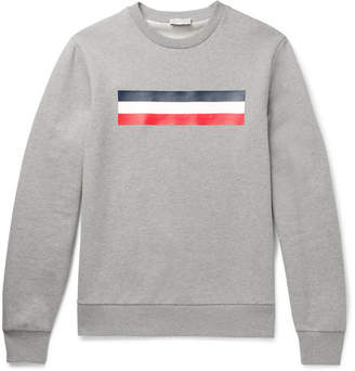 Moncler Mélange Fleece-Back Cotton-Jersey Sweatshirt