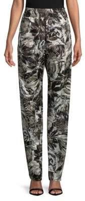Roberto Cavalli Floral-Print Stretch Pants