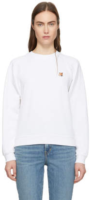 MAISON KITSUNÉ White Fox Head Patch Sweatshirt
