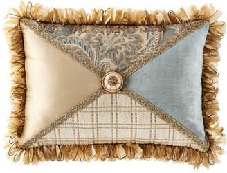 Dian Austin Couture Home Willette Patched Pillow with Fringe