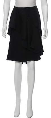 Lanvin Layered Knee-Length Skirt w/ Tags