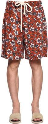 Loewe Flowers Printed Viscose Shorts