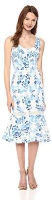 Donna Morgan Women's Printed Scuba Midi-Length Dress