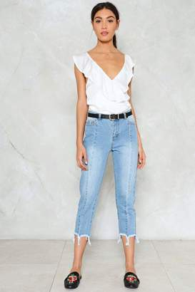 Nasty Gal Come to an End Raw Hem Jeans