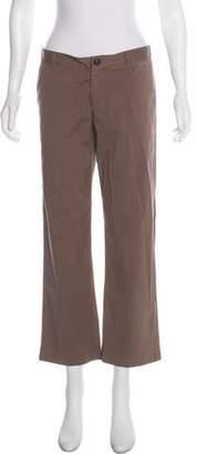 Miu Miu Mid-Rise Wide-Leg Pants
