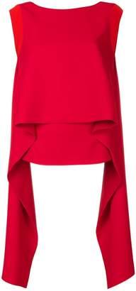 Givenchy draped panel sleeveless top