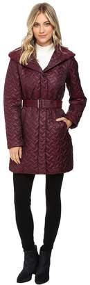 Cole Haan Quilted Coat with Hood Women's Coat