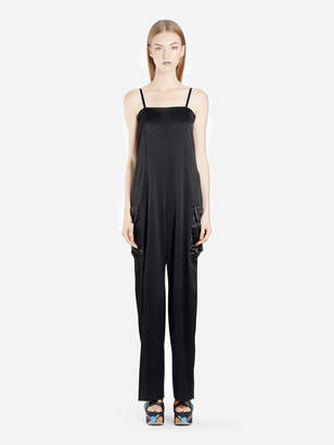 5bfe92e5e55 Black Satin Jumpsuit - ShopStyle