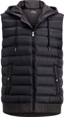 Ralph Lauren Down-Panel Double-Knit Vest