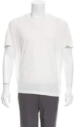 Loro Piana Silk Blend Crew Neck T-Shirt