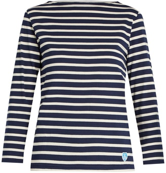 ORCIVAL Breton-striped cotton top $62 thestylecure.com