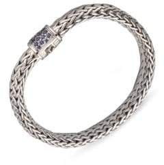 John Hardy Classic Chain Sapphire& Sterling Silver Medium Bracelet
