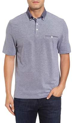 Thomas Dean Button Down Polo