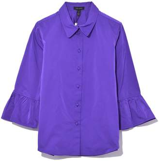Marc Jacobs Button Down with 3/4 Ruffle Sleeve in Purple