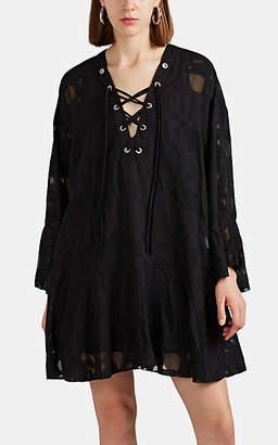 IRO Women's Ralene Chiffon Drop-Waist Dress - Black Size 36