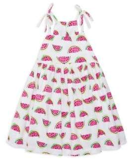 Milly Minis Little Girl's Watermelon-Print Stretch Cotton Dress