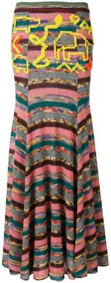 Missoni long patchwork skirt