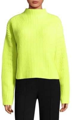 Diane von Furstenberg Ribbed Mockneck Cashmere Sweater