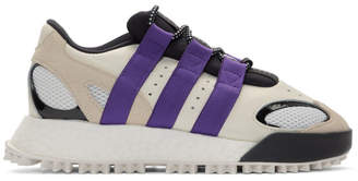 adidas By Alexander Wang by Alexander Wang White and Purple Wangbody Run Sneakers