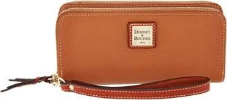 Dooney & Bourke Pebble Leather Double Zip Wallet