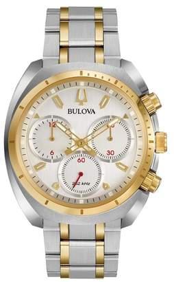 Bulova Men's Curv Two-Tone Bracelet Watch, 43mm