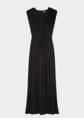 Paul Smith Women's Black Pleated Sleeveless Maxi Dress