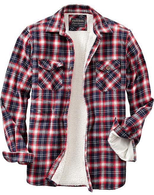Old Navy Men's Flannel Sherpa-Lined Shirt Jackets